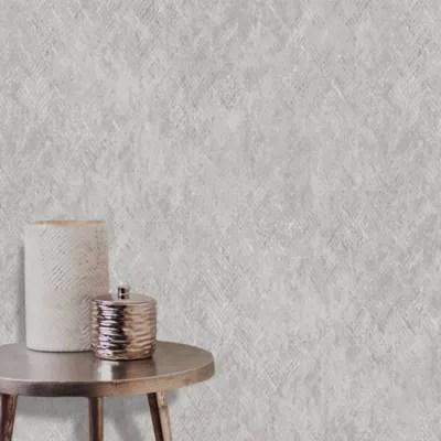 papier peint vinyle anousine intisse effet metallique 1005x53cm goodhome gris