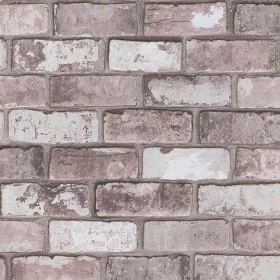 papier peint vinyle sur intisse colours arcelot brique gris rose