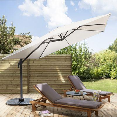 parasol deporte blooma jaya gris o300 cm