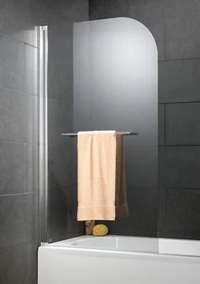 pare baignoire 80x 140 cm schulte capri deluxe aspect chrome