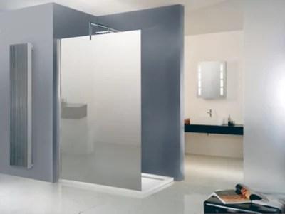 paroi de douche verre de securite miroir 120 cm walk in free
