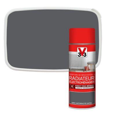 peinture de renovation aerosol radiateur electromenager v33 anthracite satin 400ml