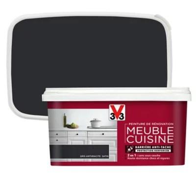 peinture de renovation meuble cuisine v33 anthracite satin 2l