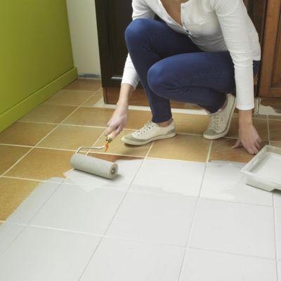 peinture de renovation sols carreles v33 blanc satin 2l