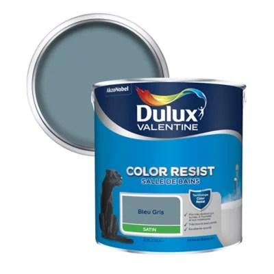 peinture salle de bain dulux valentine bleu gris satin 2 5l