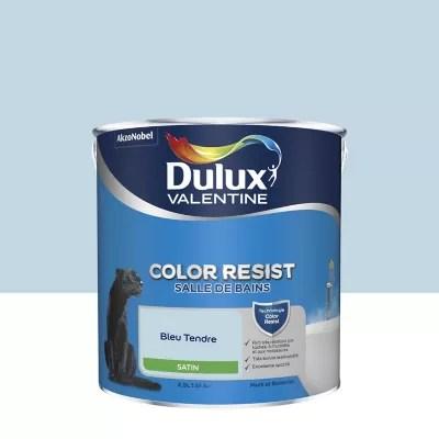 peinture salle de bain dulux valentine bleu tendre satin 2 5l