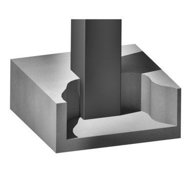 Pilier Aluminium Laque 15 X 15 Mm L 1 5 M Castorama