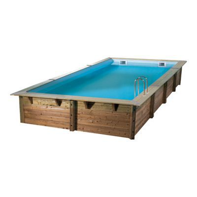 piscine bois ubbink ibiza 350 x 650 x h 140 cm