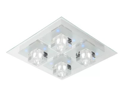 plafonnier led integree colours fama transparent o39 cm