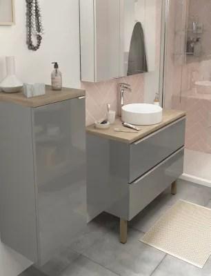 plan de toilette chene goodhome hartland l 183 x p 45 5 cm