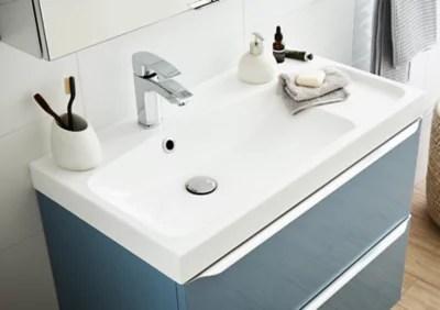 Plan Vasque Blanc Goodhome Mila 80 Cm Castorama