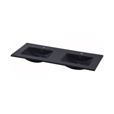Plan Vasque Noir Cooke Lewis Essential Ii 120 Cm Castorama