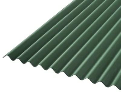plaque ondulee bitumee vert 200 x 93 cm vendue a la plaque