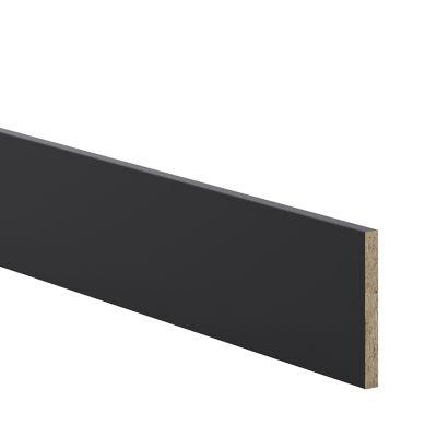 plinthe de cuisine goodhome pasilla noir h 15 cm x l 2 4 m x ep 16 mm