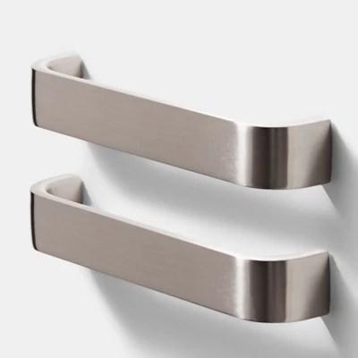 poignee de meuble de cuisine goodhome orris argent l 17 cm 2 pieces