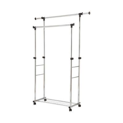 portant double avec etagere metallique