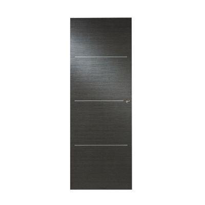 porte coulissante geom triaconta gris h 204 x l 73 cm
