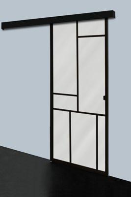 porte coulissante patchwork h 204 x l 83 cm