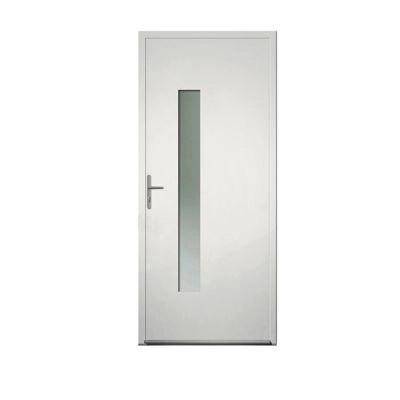 porte d entree aluminium 4 alu lara blanc 90 x h 215 cm poussant droit