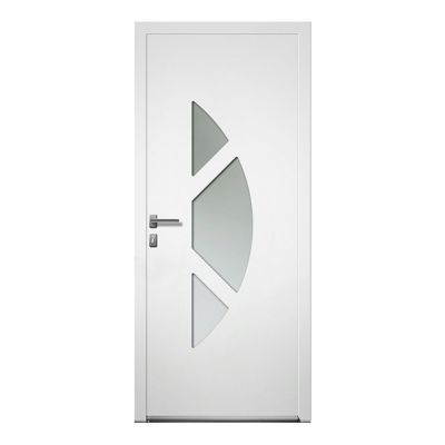 porte d entree aluminium 4 alu nepta blanc 80 x h 215 cm poussant droit
