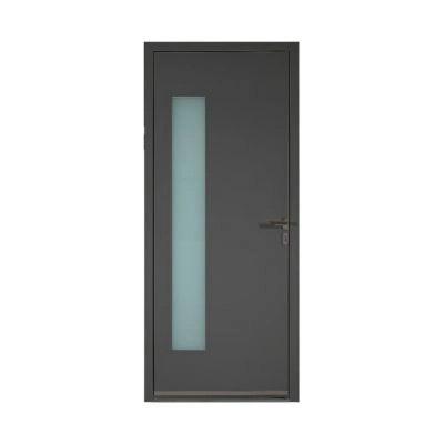 porte d entree aluminium angelina gris 90 x h 215 cm poussant droit