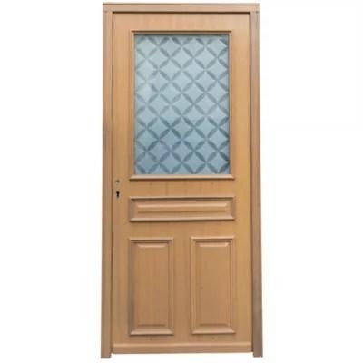 porte d entree bois k2 90 x h 215 cm poussant droit