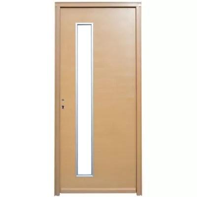 porte d entree bois meije 90 x h 215 cm poussant droit
