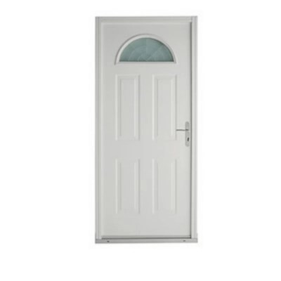 porte d entree metal geom estia 90 x h 215 cm blanc poussant droit