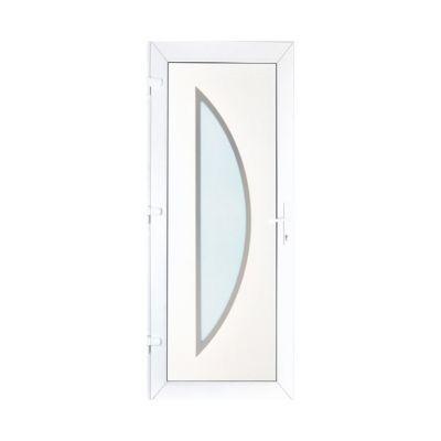 porte d entree pvc geom semisphera blanc 80 x h 215 cm poussant droit