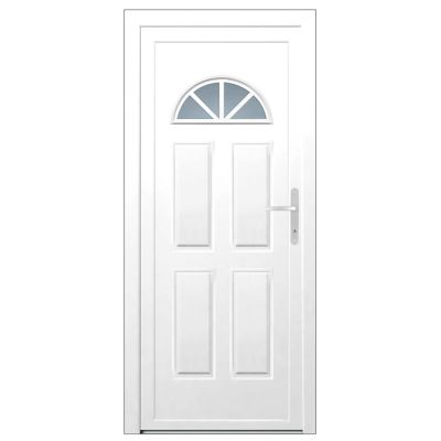 porte d entree pvc makalu demi lune 215 x 80 cm poussant gauche