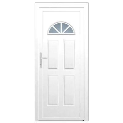 porte d entree pvc makalu demi lune blanc 90 x h 215 cm poussant droit