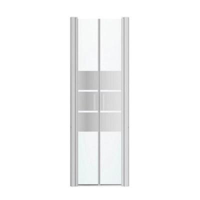 porte de douche battante goodhome beloya miroir 70 cm
