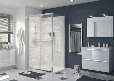 porte de douche coulissante goodhome beloya transparente 120 cm