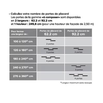 porte de placard coulissante chene cendre form valla 92 2 x 245 6 cm
