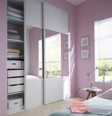 porte de placard coulissante structuree blanche form valla 92 2 x 245 6 cm