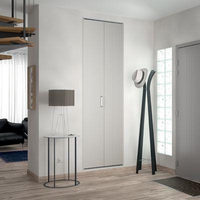 porte de placard pliante metal blanc kazed 77 5 x 242 cm