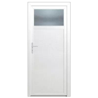 porte de service 1 4 vitree pvc 90 x h 200 cm poussant droit