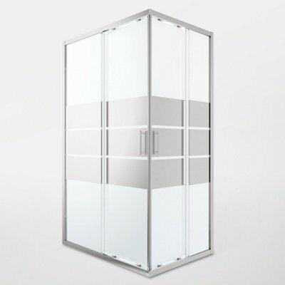 Portes De Douche Angle Droit Miroir Goodhome Beloya 120 X 80 Cm Castorama