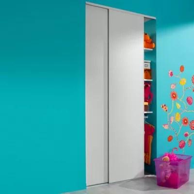 portes de placard coulissantes blanc 120 x 250 cm