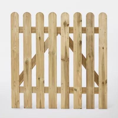portillon cloture bois blooma mekong vert 100 x h 100 cm