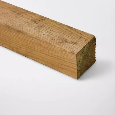 poteau en bois blooma vert 7 x 7 x h 240 cm