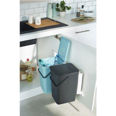 poubelle de meuble tri selectif 2 bacs 16l brabantia