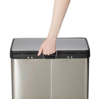 poubelle de recyclage rectangulaire 2 compartiments 40 l cleome