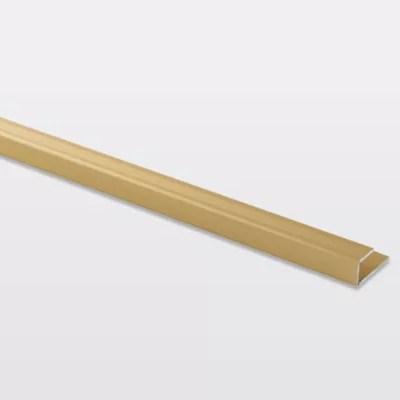 profile de finition en u en aluminium pour sol decor dore mat goodhome 8 5 x 930 mm