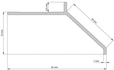 profile de tranisition alu 2m50