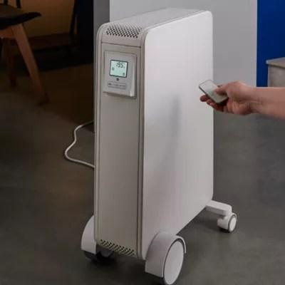 Radiateur Electrique Mobile A Inertie Seche Hindry Goodhome 2000w Blanc Castorama
