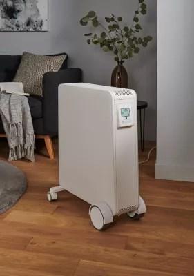 Radiateur Electrique Mobile A Inertie Seche Hindry Goodhome 2500w Blanc Castorama