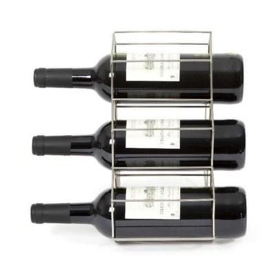 range bouteilles metal argent 6 compartiments