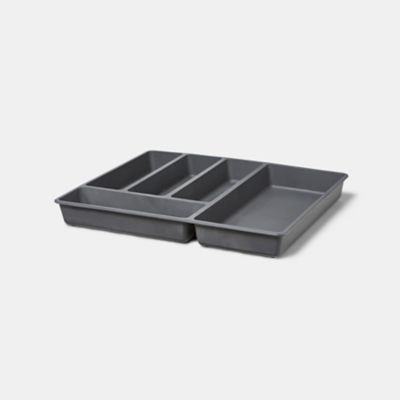 range couverts goodhome nitaki gris 50 x 42 cm 5 compartiments