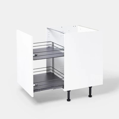 rangement coulissant pour meuble de cuisine goodhome pebre 40 cm 2 niveaux